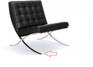 """Barcelona-1-300x216 """"Back in Stock"""" Replacement Barcelona Chair Feet Protectors"""