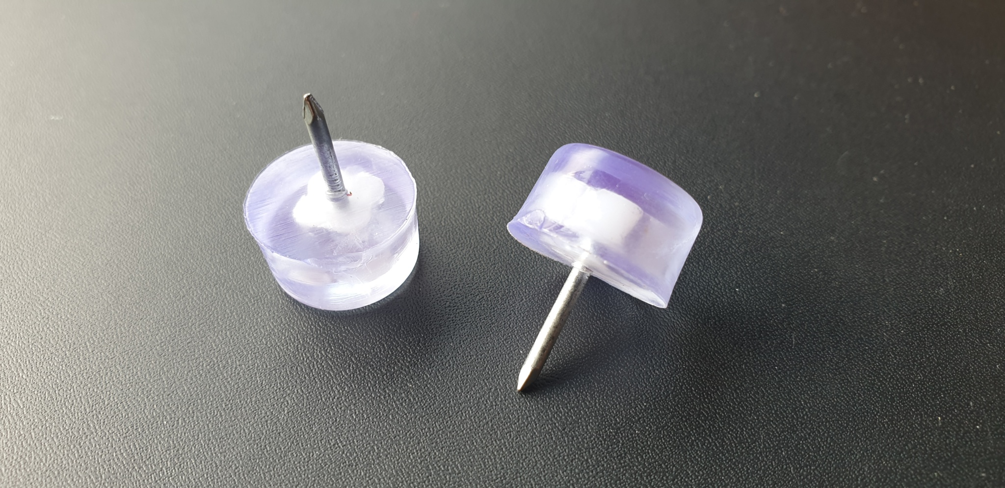 Tack In Glide 16mm Clear PVC