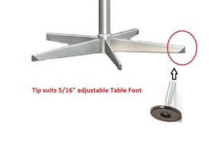 """s-l500-300x203 """"Just Arrived"""" - Table Leg Tip End Caps - 5/16"""" thread for Foot for H1026 Table Base"""